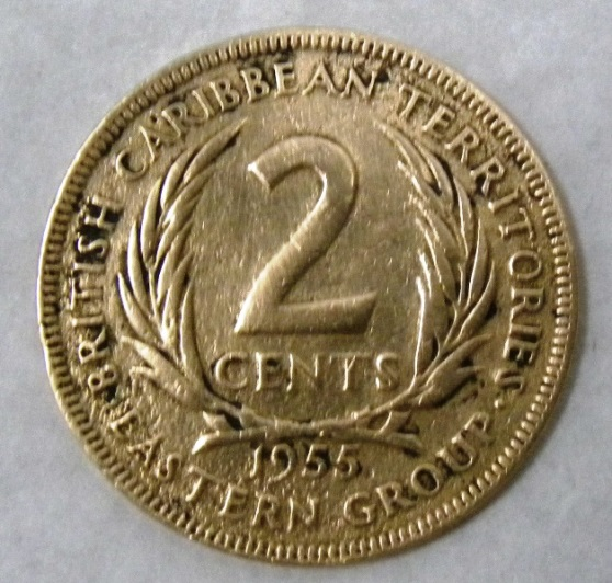 British Caribbean Territories Eastern Group 2 cents